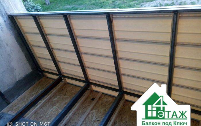 Балкон с выносом по полу / Приозерная 4а