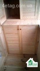 Шкаф на балкон под ключ Вишневое от фирмы 4ETAG™ Балкон под ключ