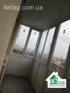 Застеклить балкон под ключ в Вишневом - балконная компания
