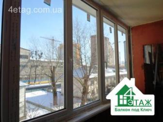 Пластиковые балконы Rehau, монтаж фирмы