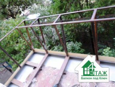 Расширение балкона по плите от компании