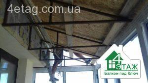 изготовление крыши для балкона