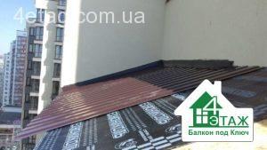 материалы для крыши балкона
