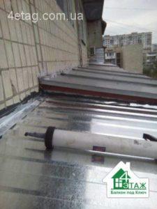 ремонт крыши балкона киев