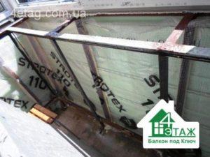 наружная обшивка балкона сайдингом цена