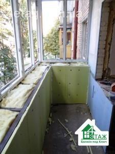 обшивка и утелпение балкона сайдингом