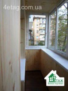 Обшивка балкона деревянной вагонкой фото бригады 5
