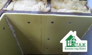 утепление балкона стиродуром
