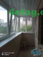 Обшивка балкона пластиковою вагонкою