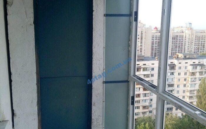 Французский балкон с выносом по полу / пр. Оболонский 18Б
